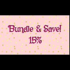 15% off 3 or more items! I will make you a deal!